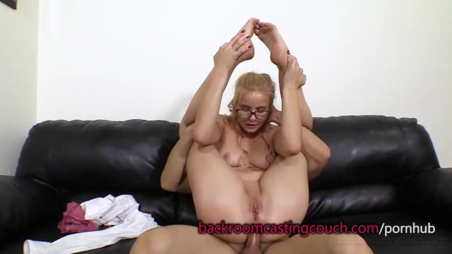 Mary beth backroom facials - Cute blonde in glasses anal and cum facial