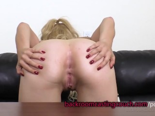 Preview 5 of Cute Blonde in Glasses Anal and Cum Facial