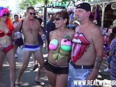 Fantasy Fest Street Flashing Sluts 3