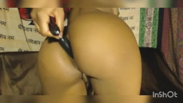 Hott ebony anal solo play for Daddy