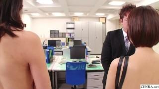 Bizarre CMNF JAV nudist insurance saleswomen Subtitled  high heels masturbation redhead slim zenra public fetish kink office brunette petite perky tits trimmed pussy