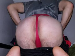 Red Thong Wedgie