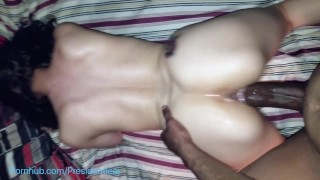 Young Latinas juicy fertile pussy draining my thick 11 inch bbc Ass oiled