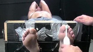 Restrained hot guy wanks while being intensely tickled Sex fuck