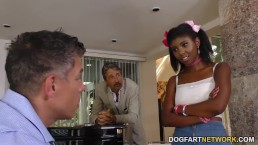 Ebony Daizy Cooper Does Anal For Job