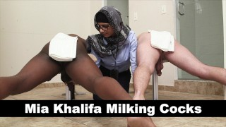 MIA KHALIFA - Your Favorite Arab Pornstar Milking Two Cocks Just For Fun porno