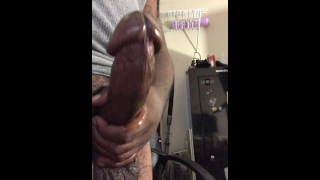 Dripping PreCum from Mr Big Head Thick Cock