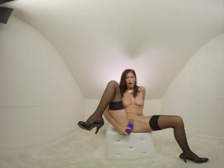 134 - Aria Rossi nice redhair milf masturbate with dildo - 3DVR180 SBS