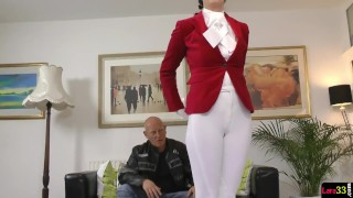 European MILF gets anally creampied