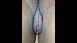 POV sneak peek at bbw phat ass