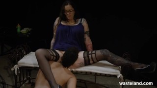 Plump Dominant Lesbian Has Girl Service In BDSM Roleplay