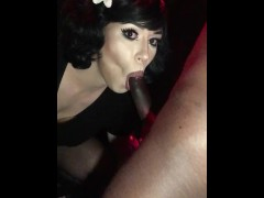 Best of Maeva French Tgirl exhib gode fisting en public