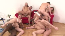 SUPER HOT DP, BBC & ANAL ORGY PARTY!!! Dirty Eurosluts Love Big Cock & Cum!