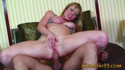 Anal and DeepThroat for Blonde Bitch with Big Natural Tits