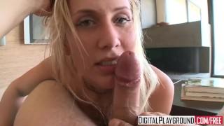 Digital Playground - Alanah Rae gives a pov blowjob and tit job
