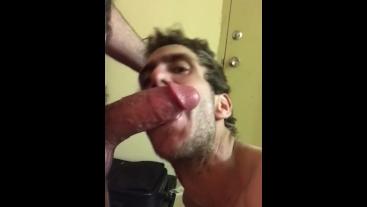 I love sucking big hard cocks