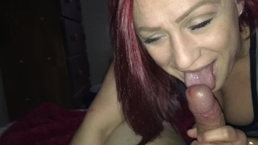 Sloppy blowjob before work