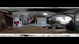 Nice victoria pure 3D VR 360 backstage from photoshoot before dildo masturb