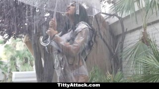 TeamSkeet - Rain, Rain, Hoe Away Dad pigtails
