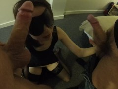 Asian Wifey Shared In Three-way Humped And Concludes In Facial