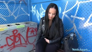 Teen facial agent railway busty bridge hot czech sticky public under for brunette view