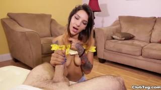 Kitty Carrera POV handjob porno