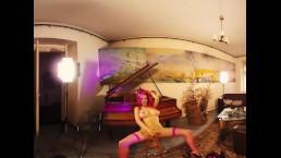 070 - Busty florane masturbate alone in old grazy art house - 3DVR180 SBS