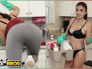 BANGBROS - My Dirty Maid Michelle Martinez Sucks My Cock Clean