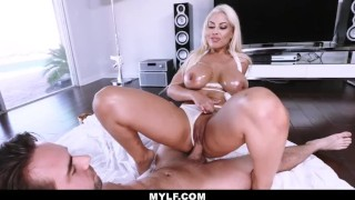 MYLF - Busty White Bikini Latina Clenches A Young Studs Cock Doggy ass