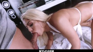 MYLF - Busty White Bikini Latina Clenches A Young Studs Cock Black interracial