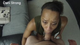 HOT ebony amateur milf learning to suck dick like a pornstar
