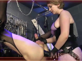 Denise masino having sex milf mistress fucks her sub with a huge toy, kink adult toys mom mother