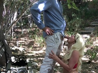 Cute slut fuckked pussy sex with a stranger in park erin electra, public outside park facial doggystyle big dick
