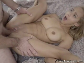 Remarkable anal creampie virgin Veronica Leal