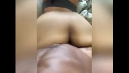 Young Latina chick takes boyfriends BBC late night and early morning
