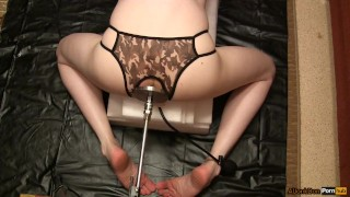 Femboy with inflatable dildo