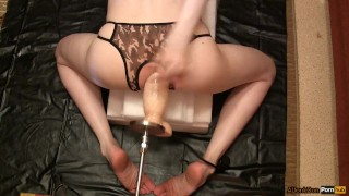 Femboy with inflatable dildo Feet toesuckingguys