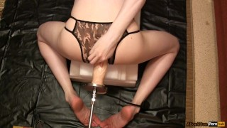 With dildo inflatable femboy kink homemade