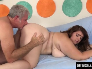 All pornstars gallery young chubby slut maxi pleasures blows and rides a horny older man, jeffsmodel