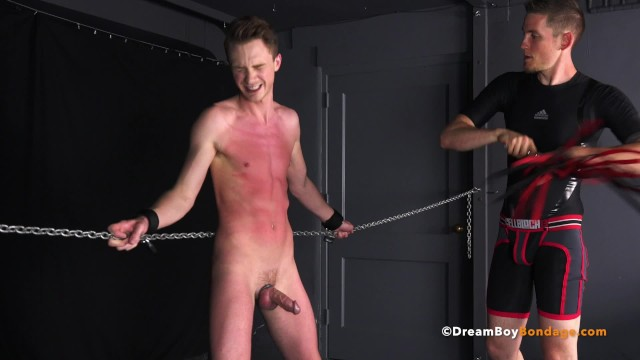 Gay bondage Hung twink cole miller milked cums bdsm gay bondage whipping spanking bj