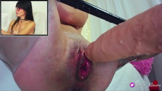 So nice fuck my pussy and I squirt again and again Boobs dildo