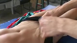 Tickling hardly handles bound lick dude toe and gay and cute footfriends bondage