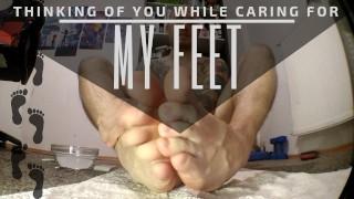 Секс порно - Ухаживаю За Своими Ногами И Думаю О Тебе, Фут-Фетиш Крем Для Ног