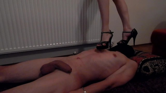High heels trampling