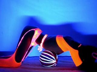 neon dream blacklight dance video sample video on modelhub
