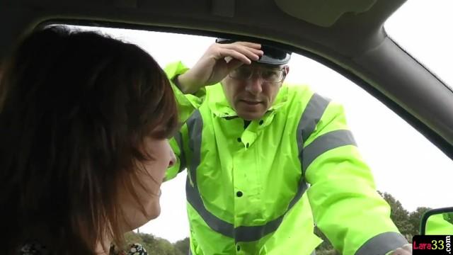 Gorgeous MILF Seduces Police Officer