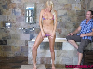 Blonde with perfect natural tits blonde bikini model takes dick, big cock teenager young blonde czech