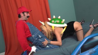THE BOWSETTE PORN PARODY  bowsette parody bowsette porn parody porn parody super mario bowsette porn cosplay peach bowsette skinny busty gamer petite mario big boobs wood rocket woodrocket small ass toad