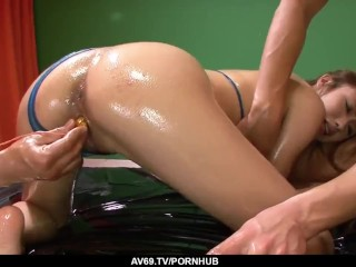 sexy luna amazing porn with two men while naked more at 69avs com