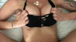 Wow! Babysitter fucked after jacuzzi fun, dripping creampie